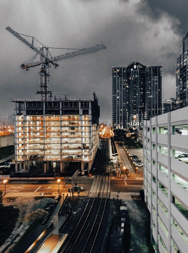 construction in city